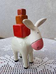Neuwertiger Keramik-Deko-Esel Luis von ASA