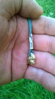 Goldnugget Immitat aus Goldener Bronze