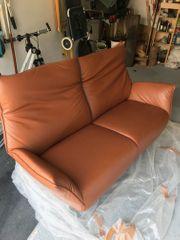 Unbenutztes neuwertiges Ledersofa Couch - Koinor