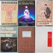 7 Bücher unterschiedlicher Themen