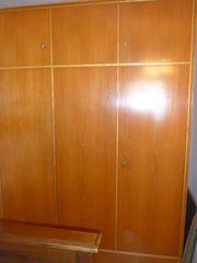 Kleiderschrank mit Aufbau Echtholz