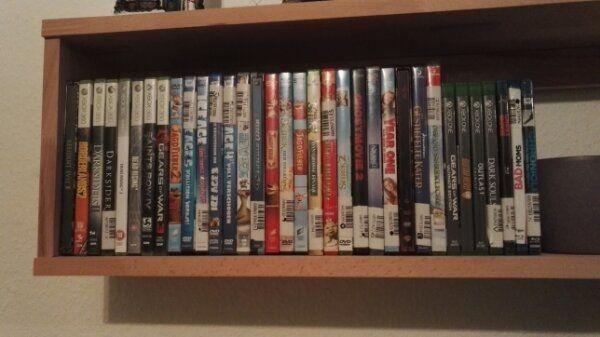 Einige Xbox Spiele und DVDs