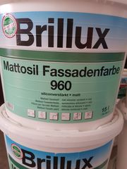 Brillux Fassadenfarbe Mattosil 960 Reinweis