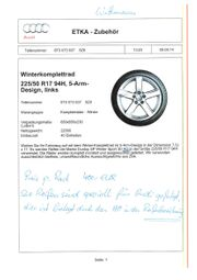 4 Original Audi Winterkomplettaluräder im