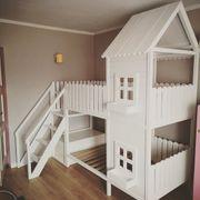 Hausbett für Kinder Doppelbett Spielhaus