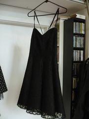 Kleid schwarz Spitze Gr 38