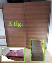 Schlafzimmer 3 tlg Bett 140