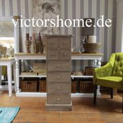Schmale Kommode Natur hohes Sideboard