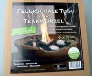 Feuerschale Tugu aus Teak-Wurzel Kamin