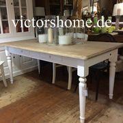 Esstisch Küchentisch weiss vintage Landhaustisch