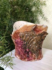 Keramikvase Weintrauben Dekor Landhaus 20