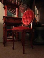 antiker Nähtisch mit Stuhl