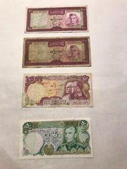 4 x Iranisches Geldschein Banknoten