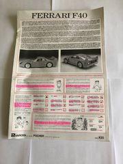 Modellbau Anleitung Ferrari Pocher F40 -