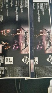 2 Metallica Tickets am 25