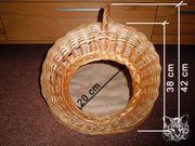 Katzenkorb Hundekörbchen Schlafkörbchen aus Flechtweide