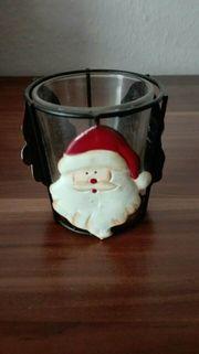 Teelichthalter Weihnachten Nikolaus Weihnachtsmann Gebraucht