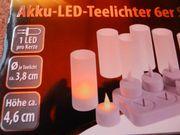 Stimmungsvolle Akku-LED-Teelichter 6er Set mit