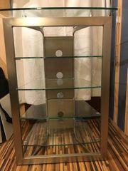 Tolles TV Rack Phonoschrank Glas