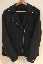 schwarze Vero Moda Lederjacke