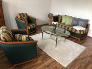Recamiere und 2 Sessel Biedermeier-Stil