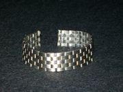 Glieder-Uhrband Stahl 16 mm breit
