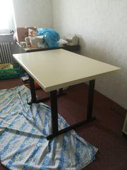 Büro-Tisch beige braun