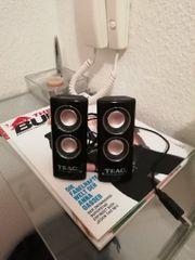 Teak USB Lautsprecher Boxen