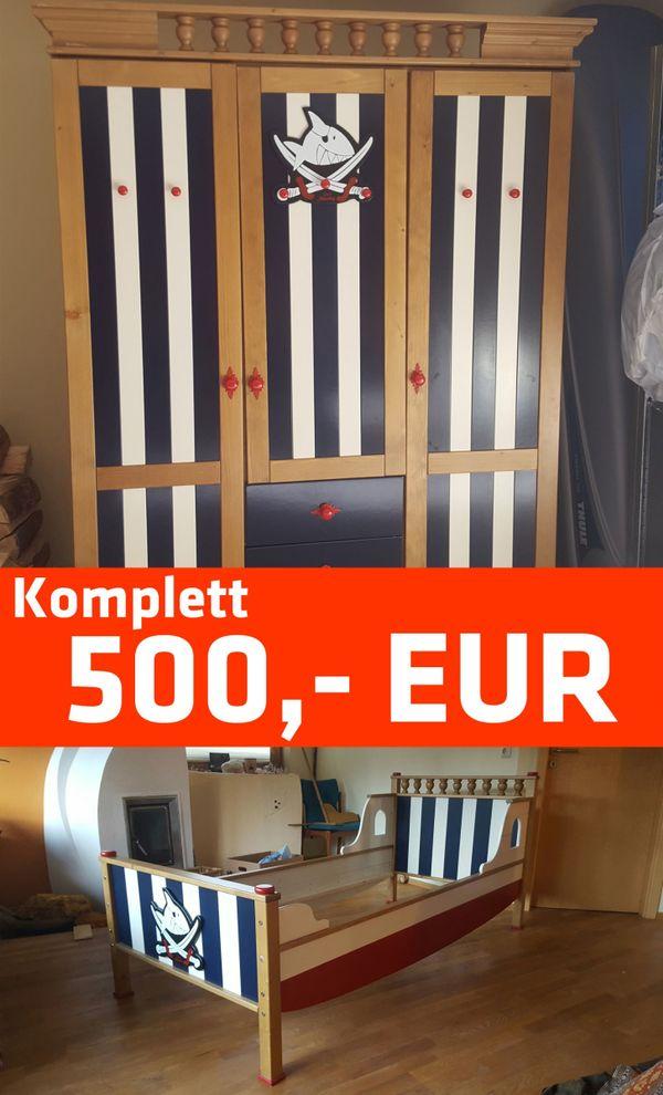 Kinderzimmer Komplett Kaufen | Kinderzimmer Komplett Bett Kleiderschrank Regal Massiv Buche In