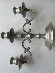 Kerzenleuchter 3 armig Zinn