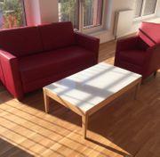 Tisch mit Glasplatte von Montbel