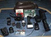Canon A1 Spiegelreflexkamera mit umfangreichem