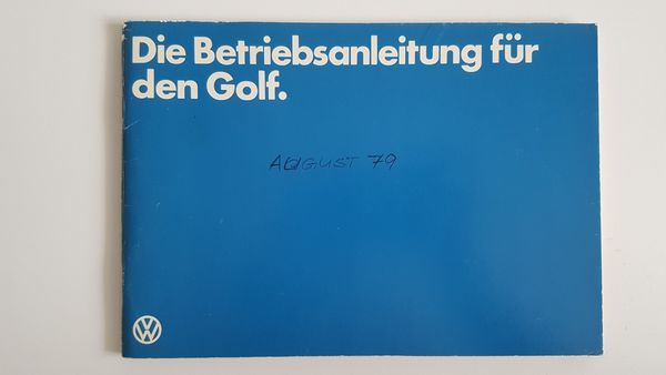 VW Volkswagen Golf 1 Betriebsanleitung