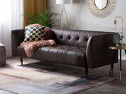3-Sitzer Sofa Leder braun BYSKE neu