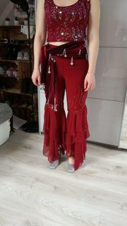 Orientalisches Kostüm Bordeauxrot