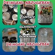 Topfset 9teilig Gläser Cappuccino Tassen