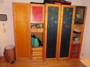 Kinderzimmer Kleiderschrank Bettanlage Vitrine