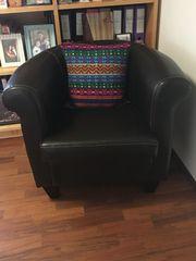 Lounge-Sessel braun Leder