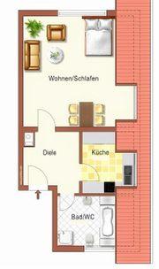 Helle geräumige 1-Zimmer-DG-Wohnung in Schifferstadt