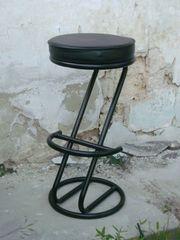 2 Barhocker Z-Design Classic Leder