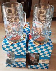 4 Oktoberfest-Maßkrüge aus Glas 1