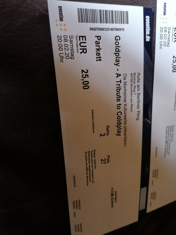 Goldplay Tickets Tribute Coldplay