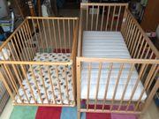 Kinderbett und Kinderlaufstall