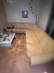 Ecksofa Couch aus Echtleider