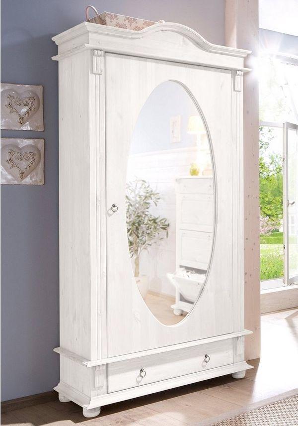 Neu Dielen Schrank Home Affaire Massiv Holz Weiss Flur Garderobe