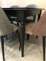 Esstisch Ikea Landhausstil schwarz INGATORP