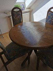 Wohnzimmer Esstisch mit 4 Stühlen