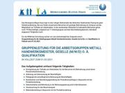 Gruppenleitung für die Arbeitsgruppen Metall