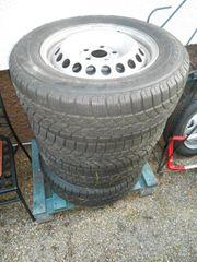 4 Winterreifen auf Stahlfelgen VW