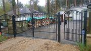 Zaun aus Polen Metallzaune Tor